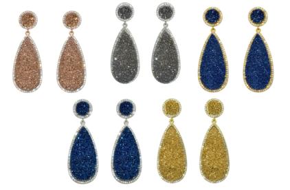 E Druzy 04 Earrings