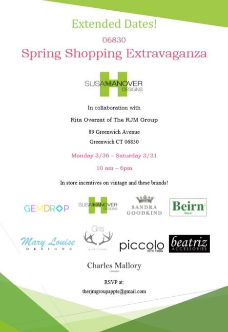 Spring Shopping Extravaganza Evite