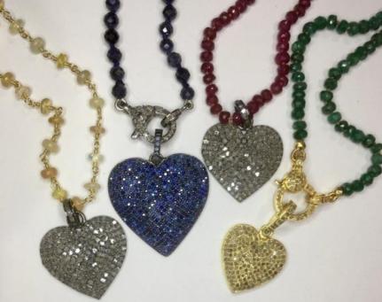 Diamond & Sapphire Hearts