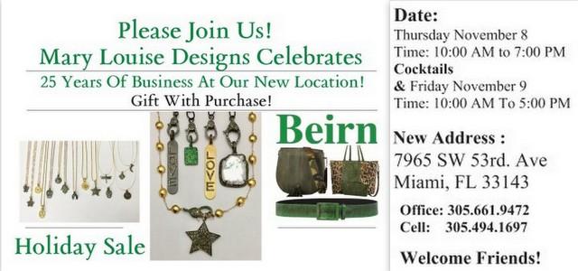 Mary Louise & Beirn Nov Sale